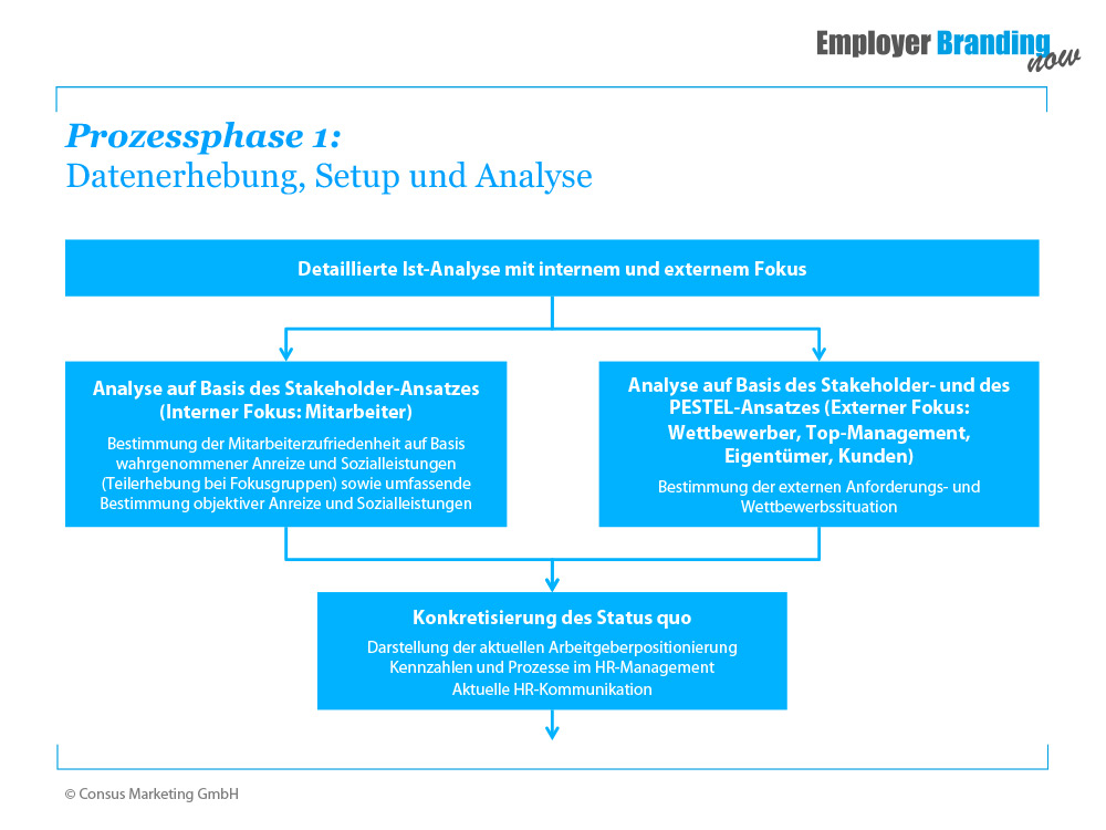 Employer Branding Prozessphase 1 Datenerhebung Setup Analyse
